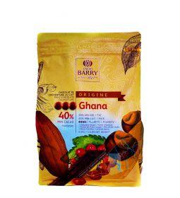 Cacao Barry Chocolate Ghana 40% Pistols Bolsa 2.5 Kg.
