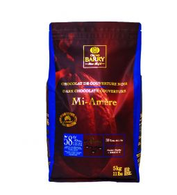 Cacao Barry Chocolate Mi Amere 58% Pistols Bolsa 5 Kg.