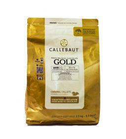 Callebaut Chocolate de Leche con Caramelo Gold Callets Bolsa 2.5 Kg.