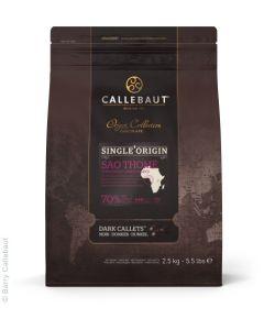 Callebaut Chocolate Saothome 70% Callets Bolsa 2.5 Kg.