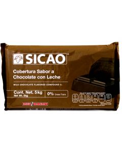 Sicao Sabor Chocolate de Leche (Sucedáneo) Marqueta 5 Kg.