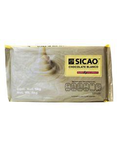 Sicao Chocolate Blanco Marqueta 5 Kg.