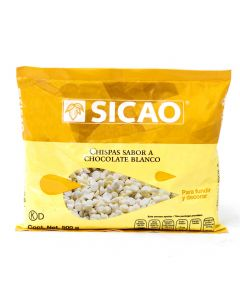 Sicao Chispas Sabor Chocolate Blanco (Sucedáneo) Bolsa 500 Grs.