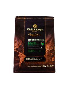 Callebaut Chocolate Brazil 66.8% Callets Bolsa 2.5 Kg.