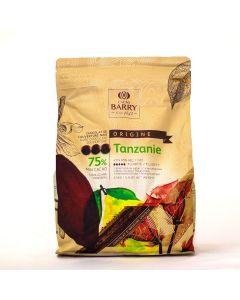 Cacao Barry Chocolate Tanzania 75% Pistols Bolsa 2.5 Kg.