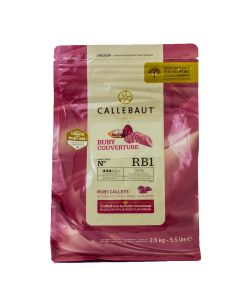 Callebaut Chocolate Ruby Callets Bolsa 2.5 Kg.