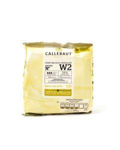 Callebaut Cobertura de Chocolate Blanco 28.1% Callets Bolsa 400 Grs.