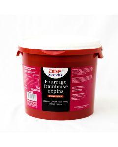 DGF Mermelada de Frambuesa con Semilla Cubeta 7 Kg.