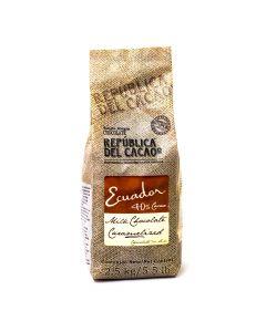 República del Cacao Chocolate con Leche ecuador 40% bolsa 2.5kg