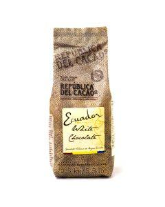 República del Cacao Chocolate blanco Ecuador 31% bolsa 2.5kg