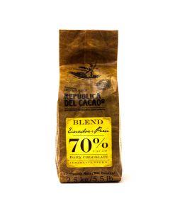 República del Cacao Chocolate Ecuador + Peru 70% bolsa 2.5kg