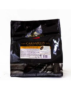Valrhona Chocolate Caramelia 36% boton bolsa 1kg