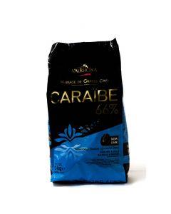 Valrhona Chocolate Caraibe 66% boton bolsa 3kg