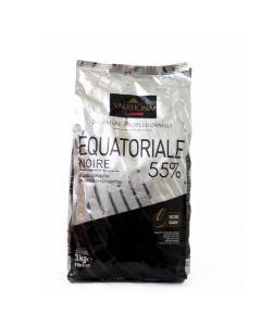 Valrhona Chocolate Equatoriale 55% boton bolsa 3kg