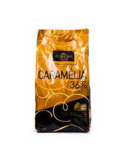 Valrhona Chocolate Caramelia 36% boton bolsa 3kg